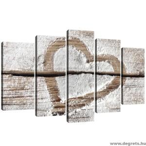 Vászonkép szett 5 darabos Szerelem  - Szív 2