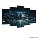 Vászonkép szett 5 darabos Éjszakai Utazás