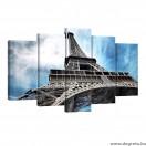 Vászonkép szett 5 darabos Eiffel Torony 1