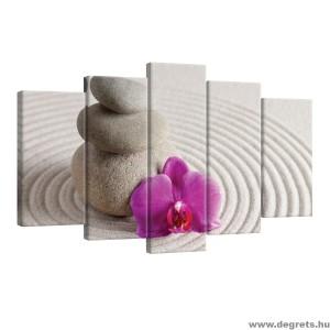Vászonkép szett 5 darabos Spa orchidea lila