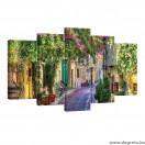 Vászonkép szett 5 darabos Virágos utca 1