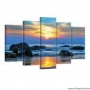 Vászonkép szett 5 darabos Tengeri Napnyugta 1