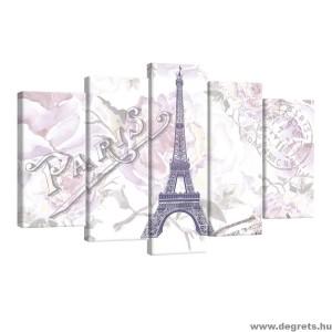 Vászonkép szett 5 darabos Párizs  Művészet 3