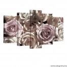 Vászonkép szett 5 darabos rózsák 3D 3