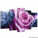 Vászonkép szett 5 darabos rózsák pihenés