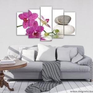 Vászonkép szett 5 darabos Orchidea elegáns 5