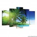 Vászonkép szett 5 darabos Maldív- szigetek 2