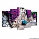 Vászonkép szett 5 darabos lila sikátor