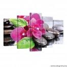 Vászonkép szett 5 darabos Orchidea Zen 2
