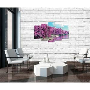 Vászonkép szett 5 darabos lila Varázslat