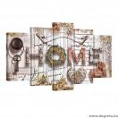 Vászonkép szett 5 darabos Hangulatos otthon  bézs