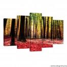 Vászonkép szett 5 darabos Őszi tündérmese