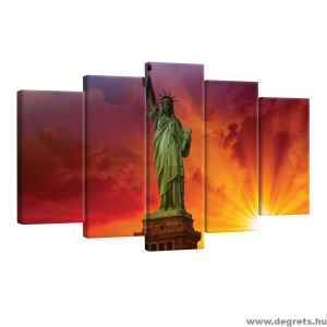 Vászonkép szett 5 darabos Szabadságszobor