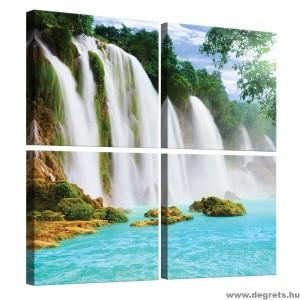 Vászonkép szett 4 darabos Paradicsomi Vízesés 1 3D