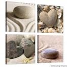 Vászonkép szett 4 darabos Szerelem  from the sea