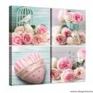 Vászonkép szett 4 darabos rózsák Szerelem  1