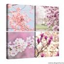 Vászonkép szett 4 darabos Tavaszi virágzás