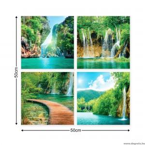 Vászonkép szett 4 darabos Paradicsomi vízeséss