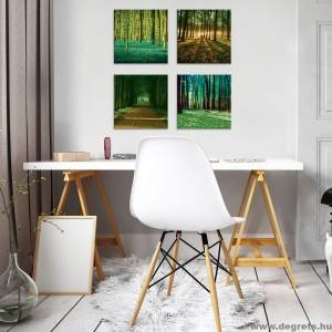 Vászonkép szett 4 darabos erdő tájkép s 2