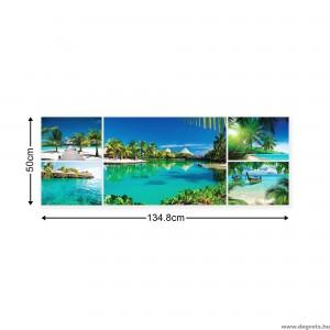 Vászonkép szett 5 darabos Egzotikus tengerpartok  3