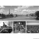 Vászonkép szett 4 darabos Párizs  fekete és fehér