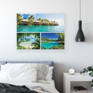 Vászonkép szett 3 darabos Egzotikus tengerpartok  3