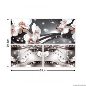 Vászonkép szett 3 darabos Orchidea elegáns 6