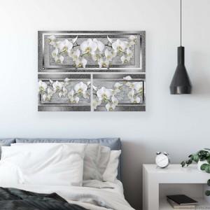 Vászonkép szett 3 darabos Orchidea elegáns 7