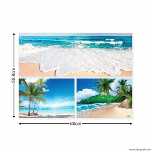 Vászonkép szett 3 darabos Egzotikus tengerpartok  4