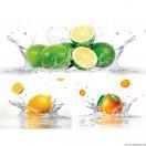 Vászonkép szett 3 darabos Citrus