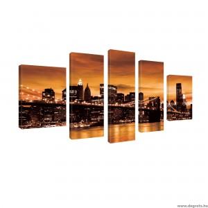 Vászonkép szett 5 darabos Brooklyn Híd Szépia
