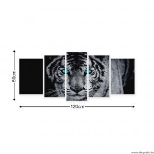Vászonkép szett 5 darabos Tigris 1 3D