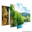 Vászonkép szett 5 darabos Reggel az erdőben