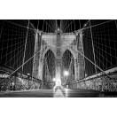 Fotótapéta Brooklyn Híd fekete és fehér 2