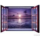 Fotótapéta Napnyugta 3D ablak  Vlies