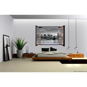 Fotótapéta Brooklyn 3D ablak  Vlies