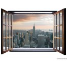 Fotótapéta New York 3D ablak  Vlies