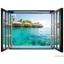 Fotótapéta Karibi  3D ablak  Vlies