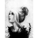 Fotótapéta A nő- fekete és fehér