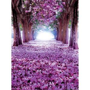 Fotótapéta lila Virágos út3D L 2