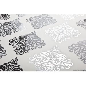 Tapéta vinyl Velence 1 3D fehér-fekete