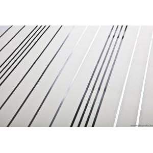 Tapéta vinyl Velence csíkos fehér-fekete