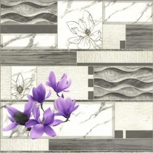 Tapéta PVC Мagnolia lila