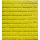 Öntapadós 3D Tapéta sárga