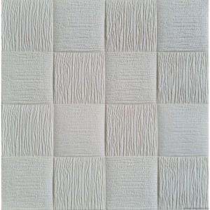 Öntapadós 3D Tapéta fehér Négyzetek