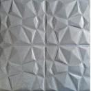 Öntapadós 3D Tapéta ezüst Bőr