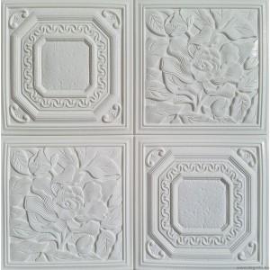 Öntapadós 3D Tapéta fehér Virágok