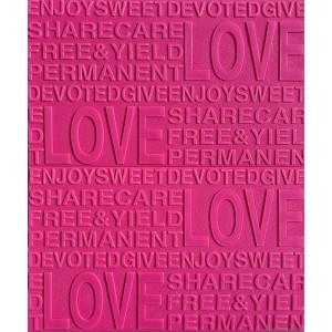 Öntapadós 3D Tapéta rózsaszín Szerelem