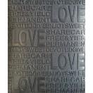 Öntapadós 3D Tapéta fekete Szerelem