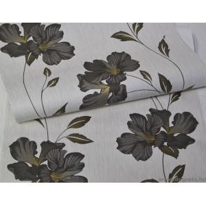 Tapéta simplex Gloria fehér-fekete